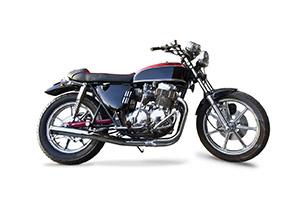 Retro Honda 1970s motorcycle